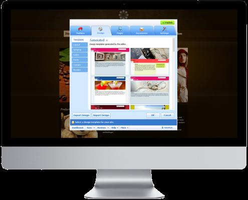 Sitebuilder design