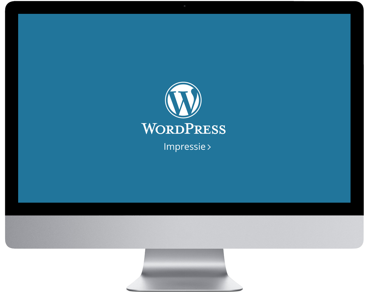 WordPress impressie